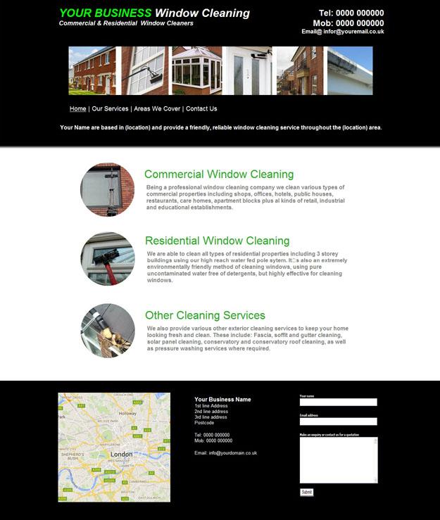 PS4-window-cleaner-website | Studio Arts Web Design