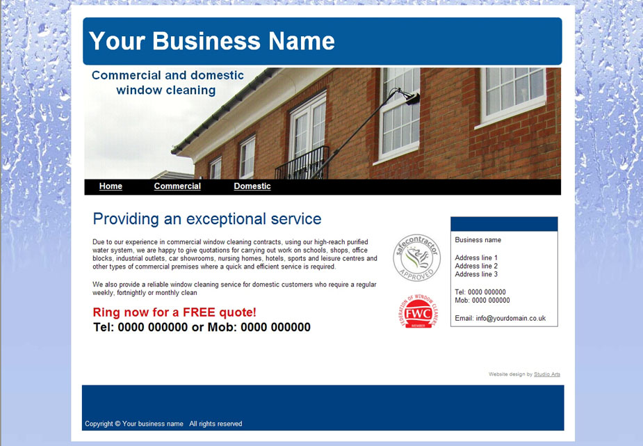 Window cleaning website template vatozozdevelopment window cleaning website template flashek Choice Image