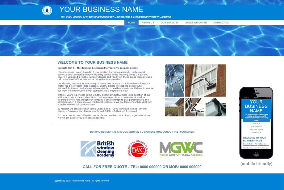 Window cleaning website templates akbaeenw window cleaning website templates flashek Choice Image