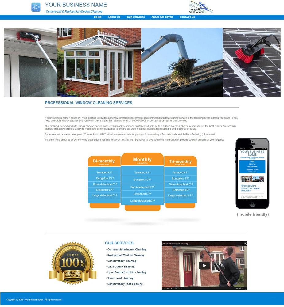 window cleaning website design studio arts web design pm11