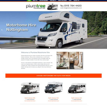Motorhome hire website