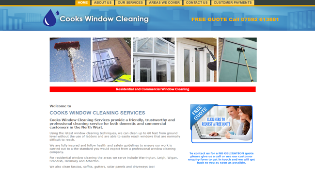 Cooks Window Cleaning Services