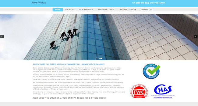 Pure Vision commercial window cleaning