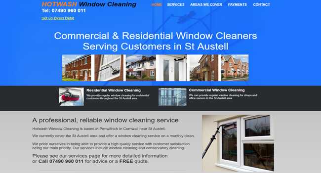 Window cleaning St Austell