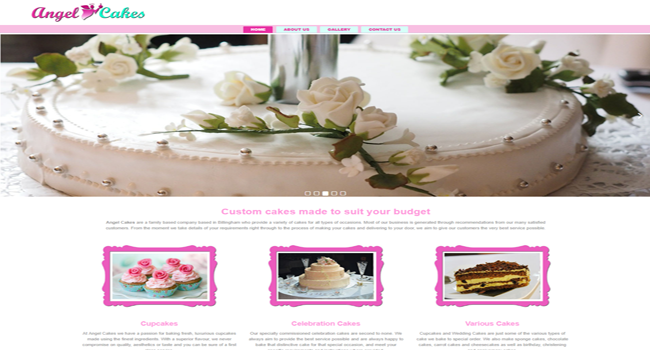 Cake making website design